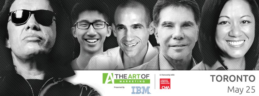 The Art of Marketing Toronto 2015 - or - My Investment in Building a Better Me — Facebook Banner (Gene Simmons, Brian Wong, Nir Eyal, Robert Cialdini, Charlene Li)