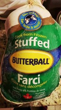 #ButterBallMakesItEasy — Can Butterball Canada Turn Casey From a Kitchen Turkey to a Cooking Whiz — Butterball Stuffed Turkey in its Packaging