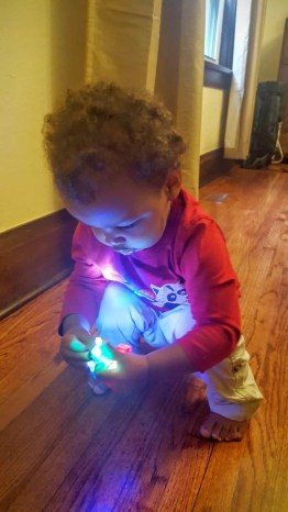 The Week That Was... October 4-10, 2015 — Little Man Looking at Finger Lights