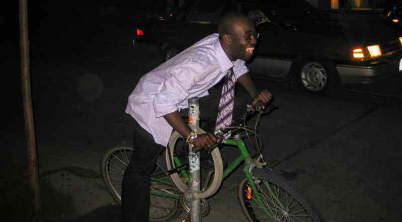 The Life and Times of Casey Palmer — Remember, Remember, The Fifth of November — Casey Palmer 2006, Sitting on a Bike That Isn't His