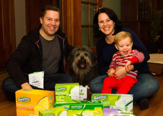 Life as a Swiffer Fanatic, Vol. 2 — Fighting Messes from Other People's Pooches... Because #ShedHappens — Mike, Sydney, Jenn and Henry