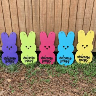 peep Easter door hanger