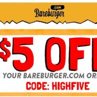 Get $5 OFF your next plant-based meal at Bareburger.com