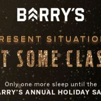 Barry's Bootcamp Holiday Sale starts tomorrow December 5, 2018