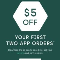 Sweetgreen offering $10 off two orders when you order via the sweetgreen app (new users)