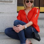 The Cutest Red Top Paired with my Favorite Sandals