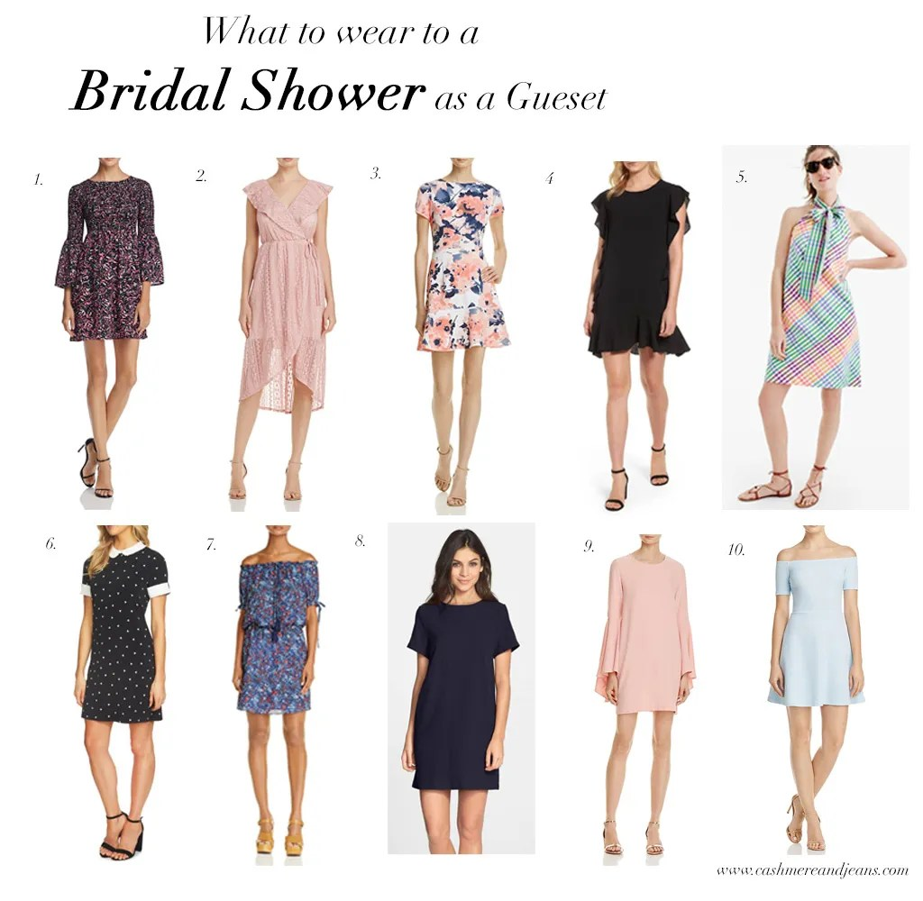 what to wear to a bridal shower as a guest