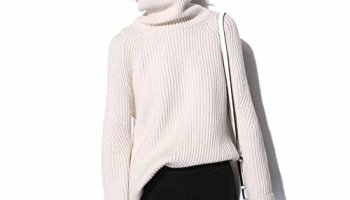2eb89d30bc2 Womens Cashmere Sweater Cardigan Casual Loose Long Sleeve Knit high-Low Hem  Turtle Neck Pullover