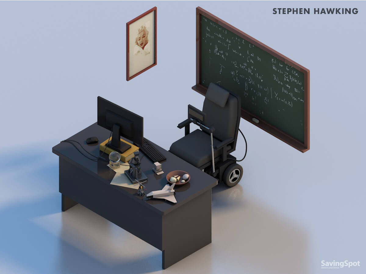 Stephen Hawking's desk
