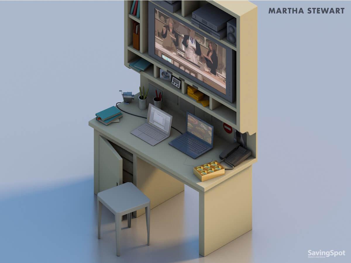 Martha Stewart's desk
