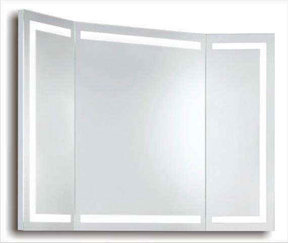 Miroir Triptyque Lumineux Led Bordure 3 Triga Www Cashotel Fr