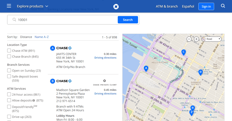 Chase Bank Near Me: How to Find Branches/ATMs Near You - CashProf