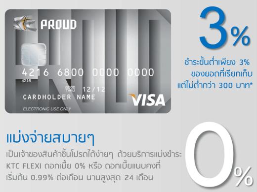 สมัครสินเชื่อบัตรกดเงินสด KTC PROUD