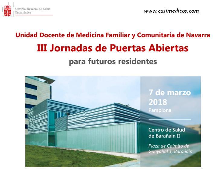 Unidad Docente de Medicina Familiar y Comunitaria de Navarra  III Jornadas de Puertas Abiertas  para futuros residentes @ Centro de Salud Barañáin II | Barañáin | Navarra | Spain