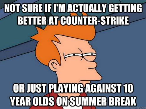 Fry from futurama talking about CSGO gaming