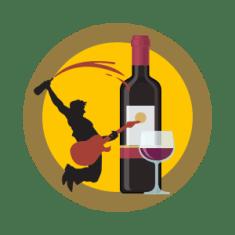 wine tasting in las vegas on yellow circle