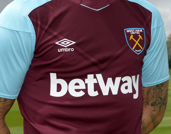West Ham football team sponsored by Betway