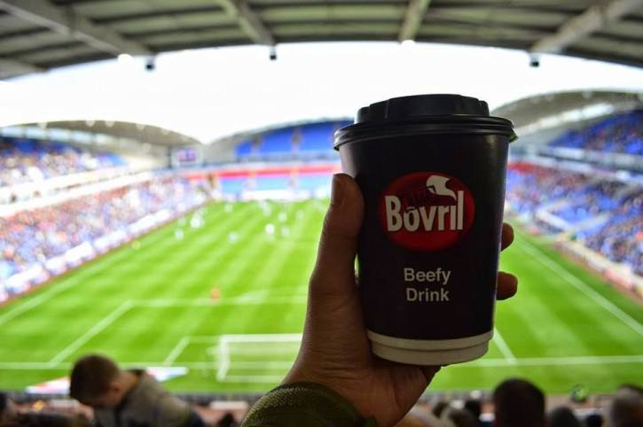 A popular drink to warm up football fans