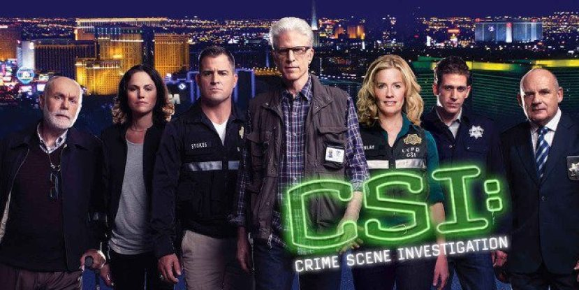 An image of the first ever crime drama TV show, CSI: Las Vegas