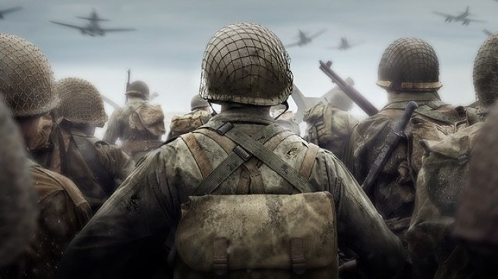 The official poster for Call of Duty WWII