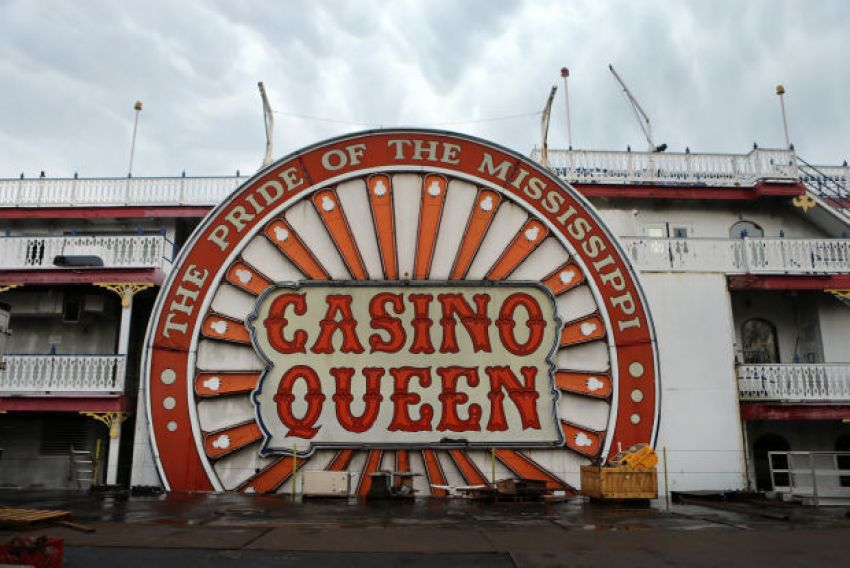 An image of the Casino Queen riverboat casino located in St Louis