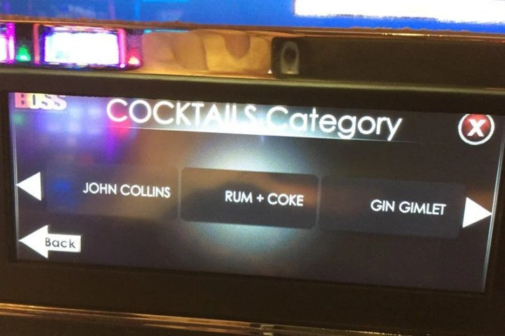 Automated drinks service on offer to customers at casinos