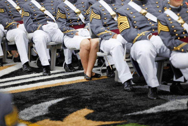 Female cadets in the US military