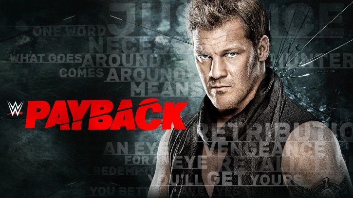 A photo promoting the WWE pay-per-view event, Payback