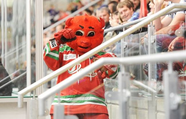 A photo of Taz the Devil, Cardiff Devils mascot
