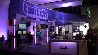 Twitch gaming arena at a live eSports event