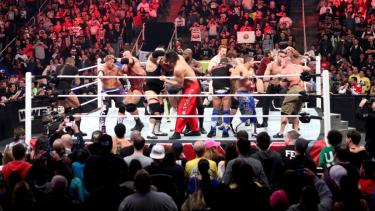 An image from the WWE Royal Rumble