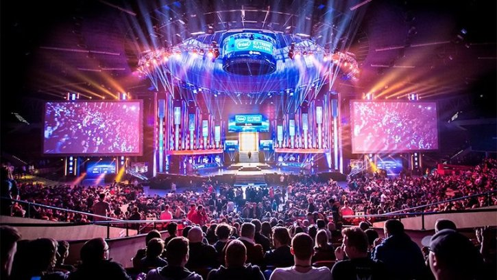 A photo from a competitive eSports event