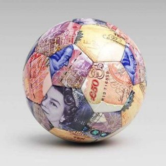 Football made of cash