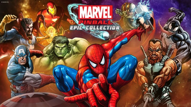 Marvel pinball game promo