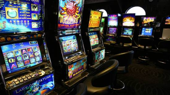 A typical example of pokies machines in an Australian casino