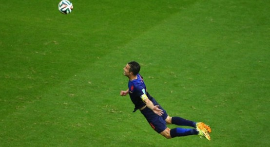 Netherlands trouncing Spain was almost as thrilling as this Robin Van Persie goal during the 2014 World Cup.