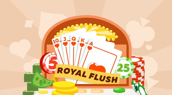 illustration of playing cards and chips