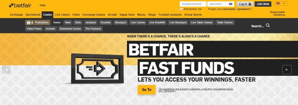 Betfair Casino New Customers Offers