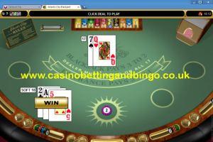Atlantic City Blackjack Game Screen