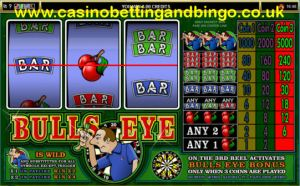 Bulls Eye 3 Reel Slot Machine
