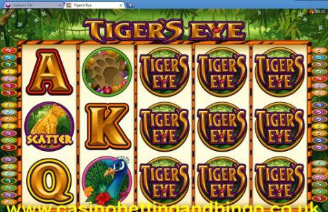 Tiger Eye Slot Machine - Main Screen
