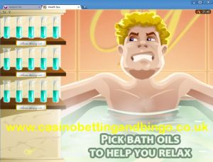 Wealth Spa Slots Game Bath Oil Bonus Screen
