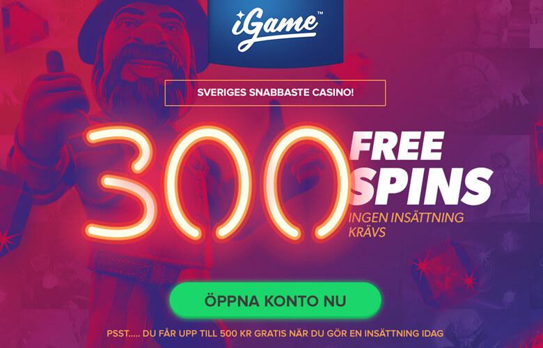 iGame free spins erbjudande