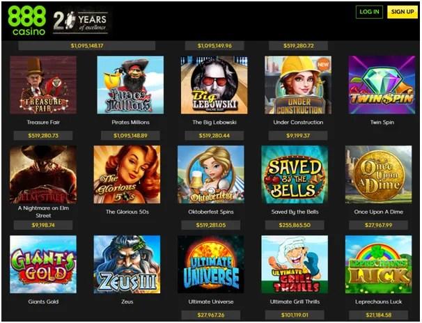 888 casino slots games