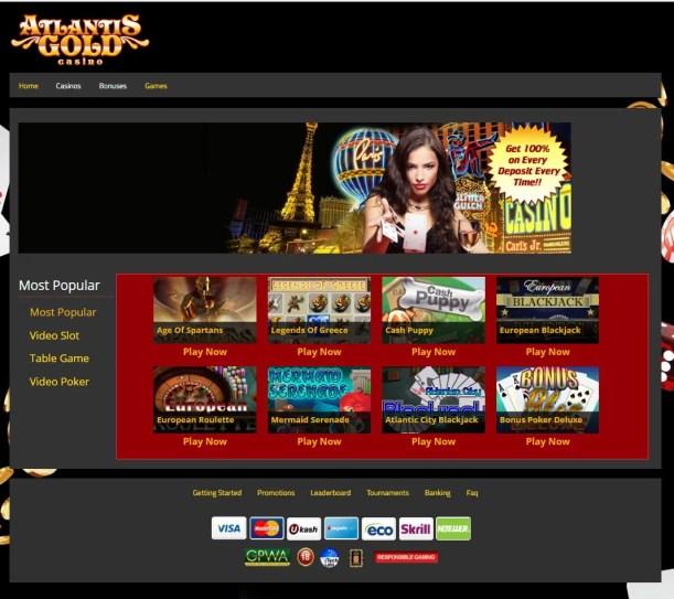 Atlantis Gold Games to play