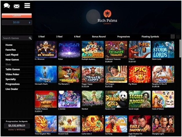 Rich Palms online casino games