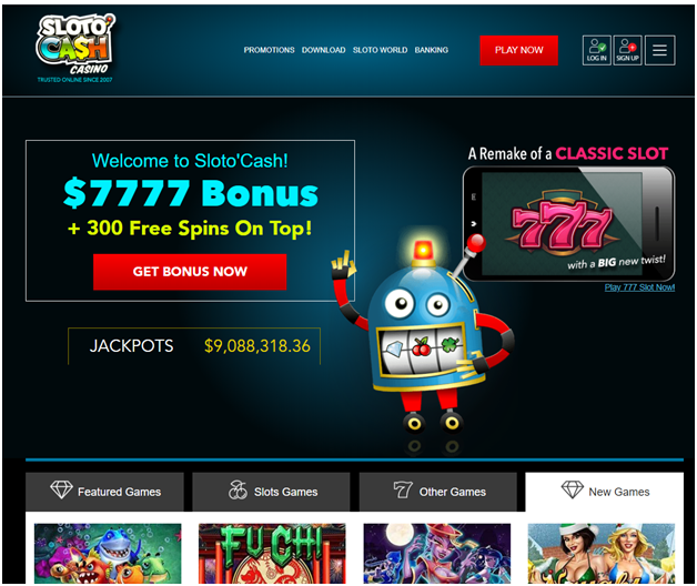 Sloto Cash Casino For US players