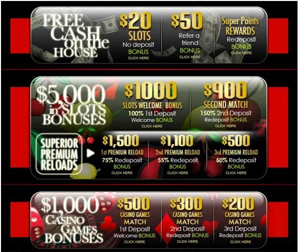 $20  No Deposit bonus at Superior casino