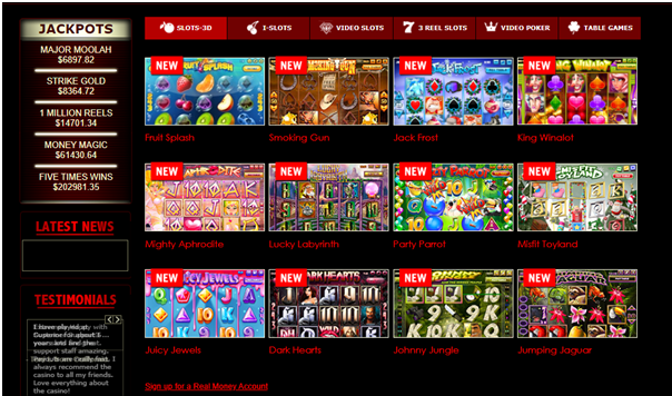New slot games at Superior casino