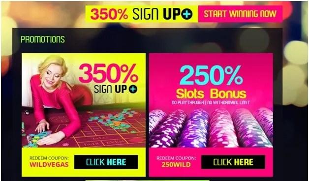 Wild Vegas online casino bonus offers